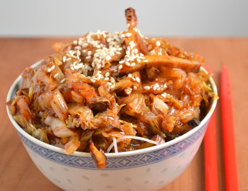 Napa Cabbage and Tofu Stir Fry