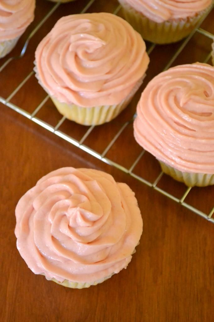 Rhubarb Cupcakes