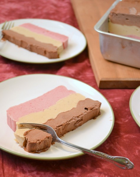 Vegan Layered Neapolitan Ice Cream Cake