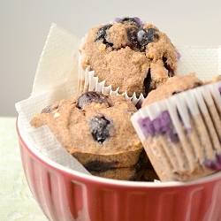 Thumbnail image for Gluten Free Vegan Blueberry Muffins