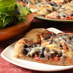 Thumbnail image for BBQ Black Bean Pizza