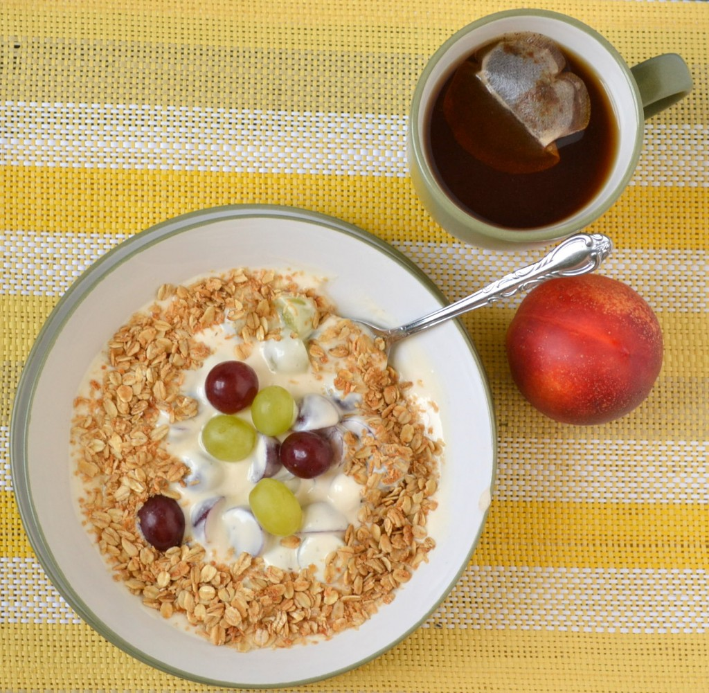 Coconut Granola and a Creamy Grape Breakfast Bowl