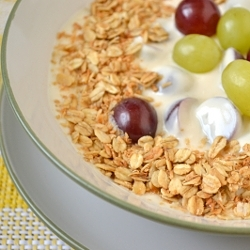 Thumbnail image for Coconut Granola and a Creamy Grape Breakfast Bowl