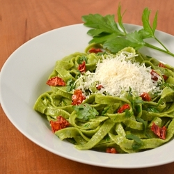 "Thumbnail image for Whole Wheat Spinach ""Monster"" Pasta"