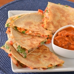 Thumbnail image for Loaded Vegetarian Quesadillas