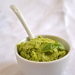 Thumbnail image for Nut-Free Garlic Scape Pesto