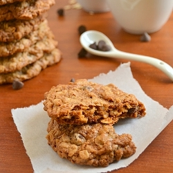 Thumbnail image for Whole Wheat Oatmeal Chocolate Chip Cookies