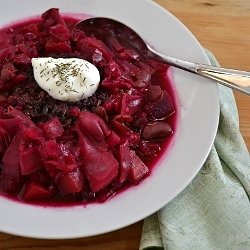 Thumbnail image for Vegetarian Bean Borscht