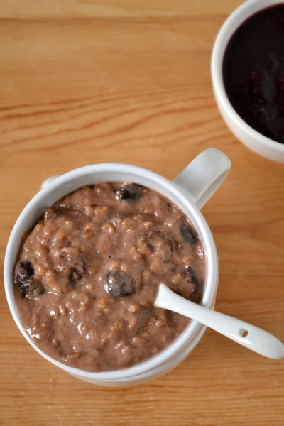 Cherry Brown Rice Pudding
