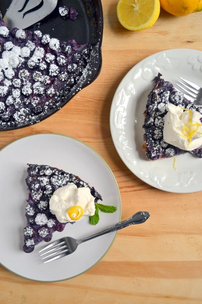 Lemon Blueberry Clafoutis