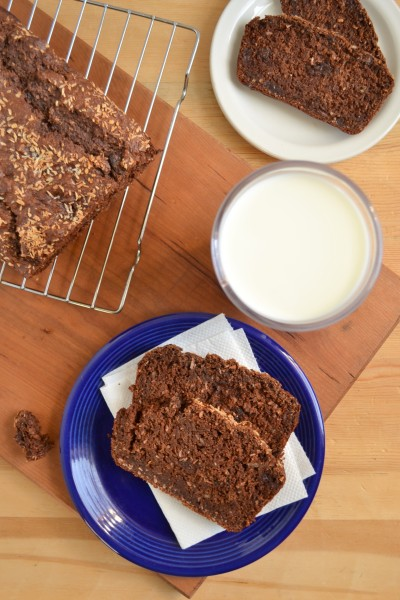 Vegan Double Chocolate Coconut Banana Bread