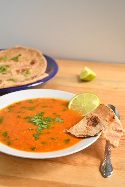 Tomato and Red Lentil Bisque and a Cookbook Review