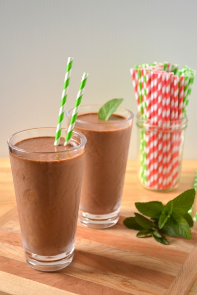 Chocolate Mint Shake   Vegan and No Sugar Added!