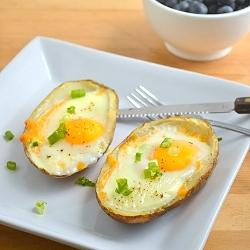 Thumbnail image for Baked Eggs in Potato Skins