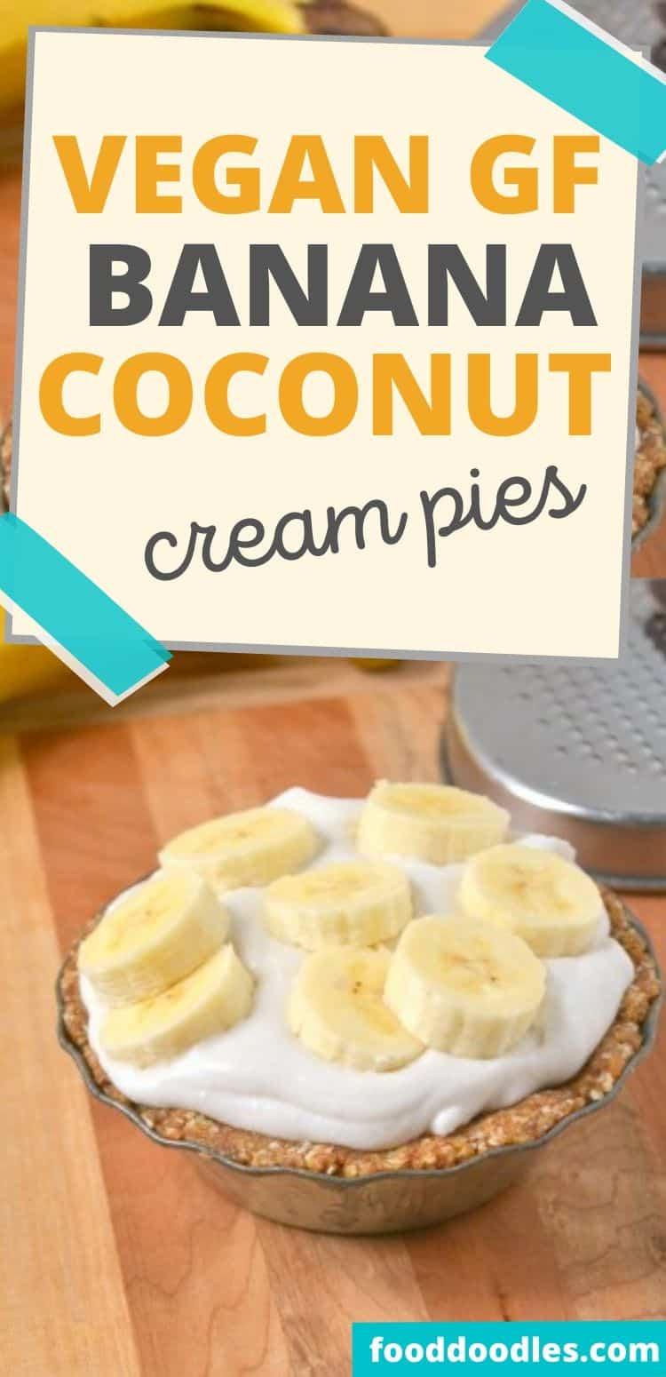 No-bake Vegan Gluten-free Coconut Cream Pies