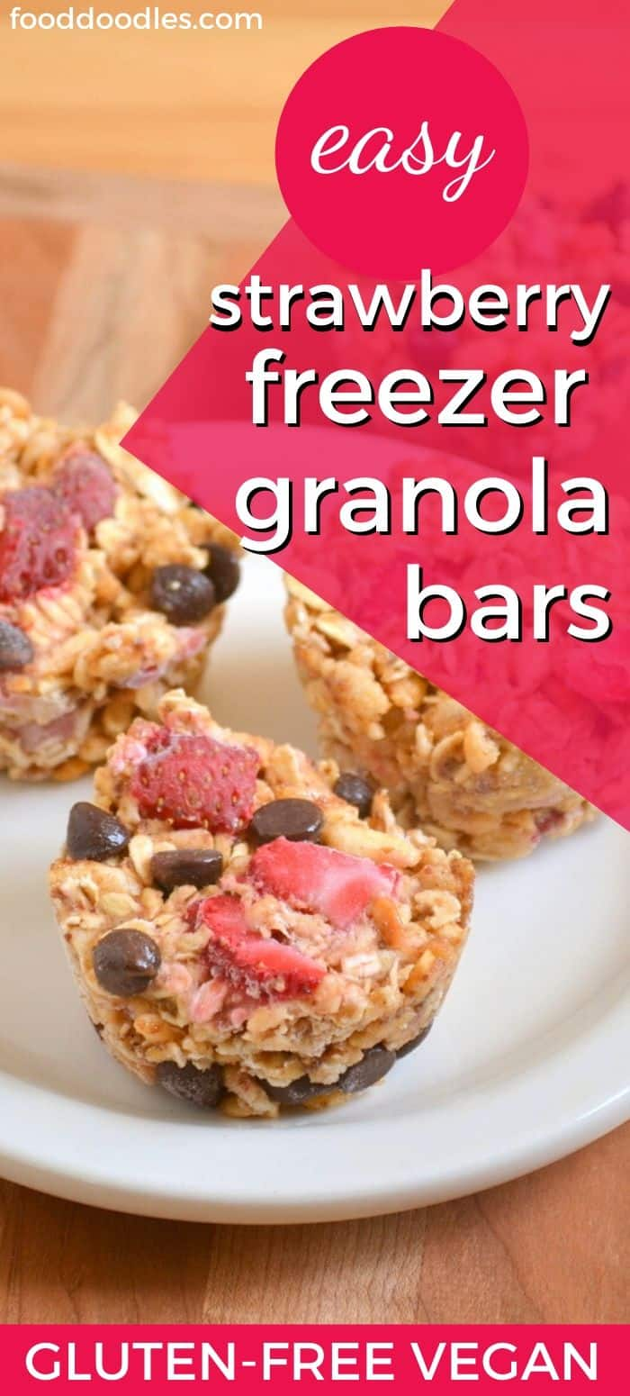 Strawberry Granola Bars (gluten-free, vegan)