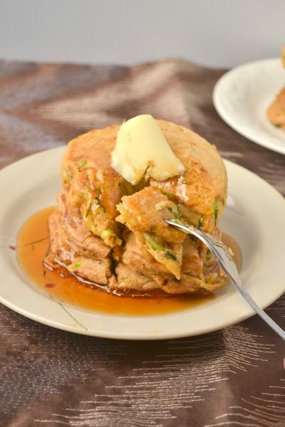 Whole Wheat Zucchini Bread Pancakes