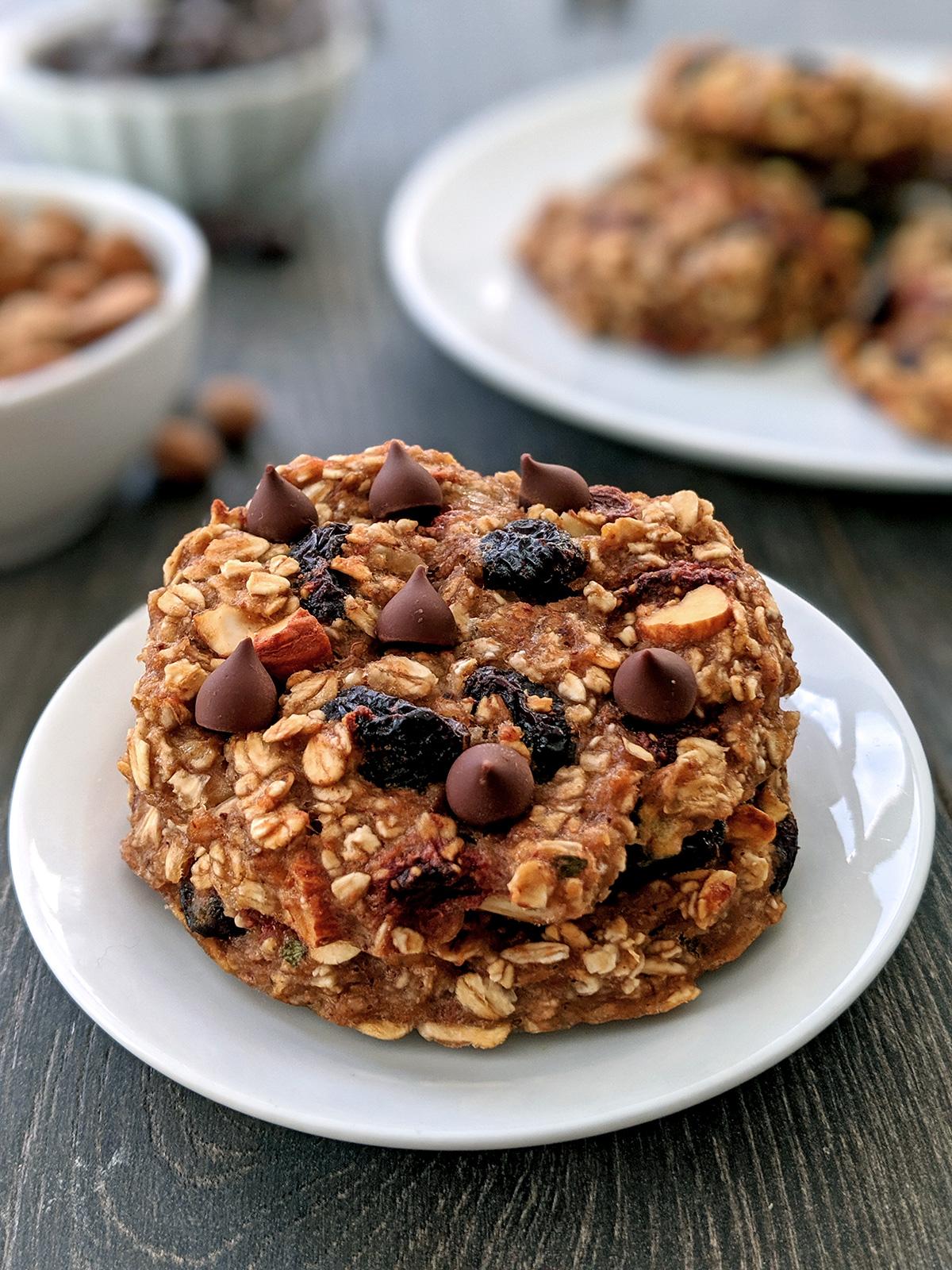 Healthy Breakfast Cookies (gluten-free, vegan)