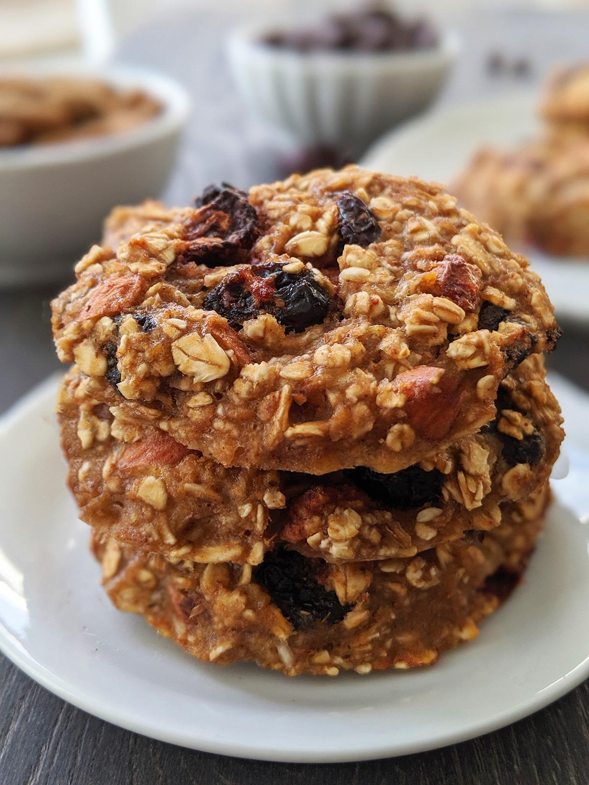 Healthy Breakfast Cookies (gluten-free and vegan)