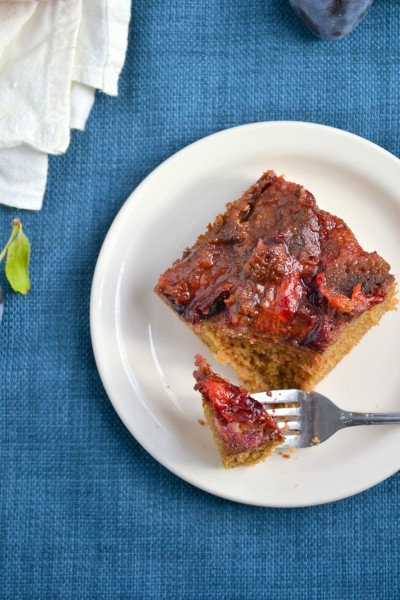 Spiced Plum Upside Down Cake