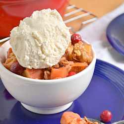 Thumbnail image for Honey-Ginger Cranberry Apple Crisp
