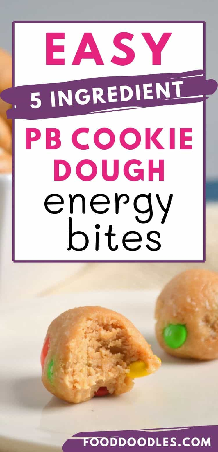 Peanut Butter Cookie Dough Energy Bites
