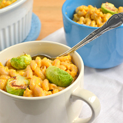 Thumbnail image for Pumpkin Mac and Cheese with Roasted Brussels Sprouts