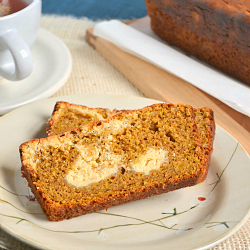 Thumbnail image for Whole Wheat Pumpkin Cheesecake Swirl Loaf