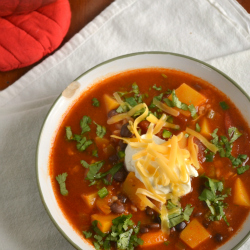 Thumbnail image for Butternut Squash and Black Bean Taco Soup