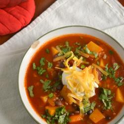 Butternut Squash and Black Bean Taco Soup photo