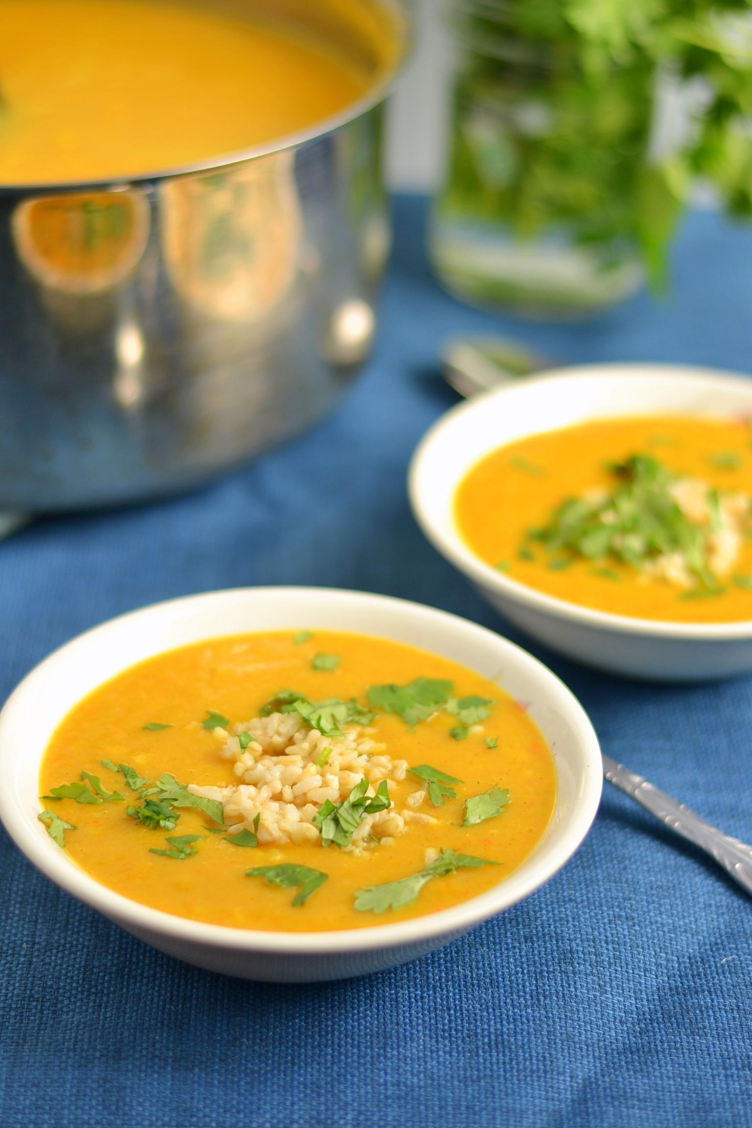 Vegan Butternut Mulligatawny Soup