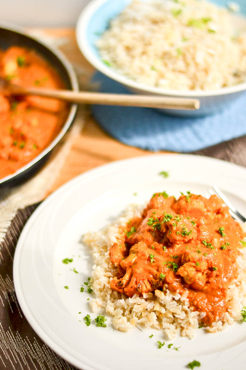 Vegan indian butter cauliflower i served this with some brown coconut rice as well so i included the rice recipe i have to say though the first time i ever had coconut rice was when i forumfinder Images