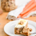 Whole Wheat Carrot Cake with Light Greek Yogurt Cream Cheese Frosting