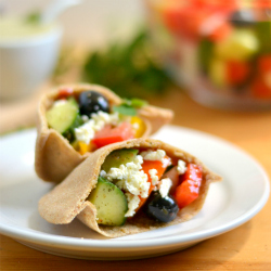 Thumbnail image for Whole Grain Spelt Mini Pitas with Greek Salad – Two Ways!