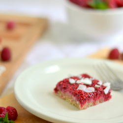 Thumbnail image for Raw Raspberry Shortbread Bars(Grain and Gluten Free with a Vegan Option)