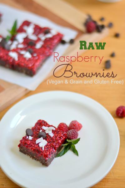 rawraspberrybrownies