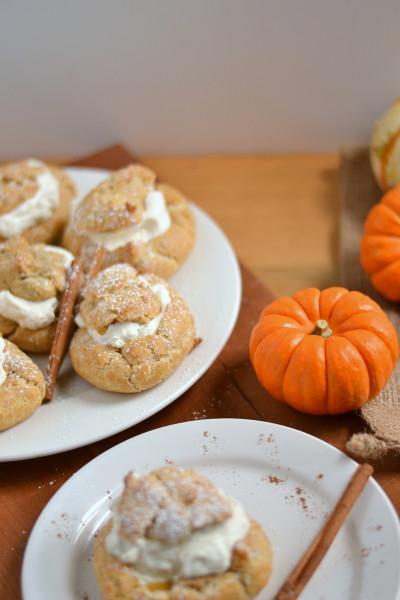 Whole Wheat Pumpkin Cream Puffs Image