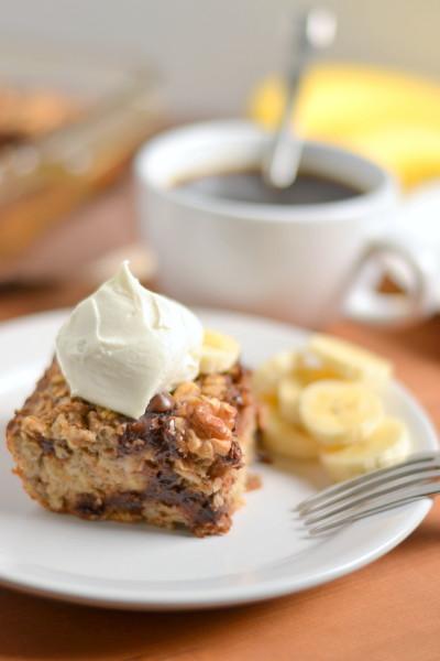 Banana Chocolate Chip Baked Oatmeal Image