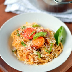 Thumbnail image for 1 Pot Pasta with Cherry Tomatoes and Whole Wheat Pasta