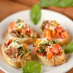 Thumbnail image for Cherry Tomato Bruschetta with Parmesan Cheese