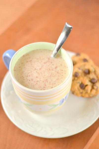 Vanilla Nutmeg Almond Milk Steamer with Protein Image