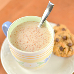 Thumbnail image for Vanilla Nutmeg Almond Milk Steamer – With Protein Option!