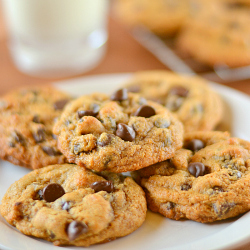 Thumbnail image for Thick and Chewy 100% Whole Wheat Chocolate Chip Cookies