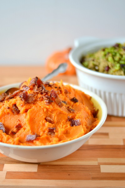 Mashed Sweet Potatoes with Bacon Image