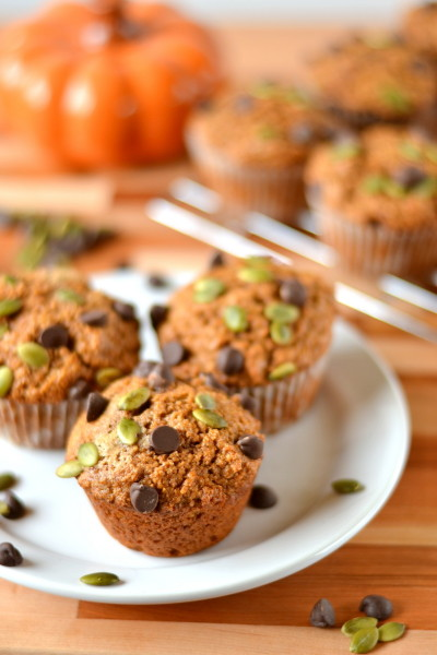 Pepita Chocolate Chip Pumpkin Muffins Image