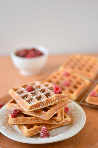 Light and Fluffy Whole Wheat Waffles Image
