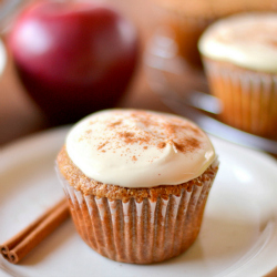 Thumbnail image for Whole Wheat Applesauce Spice Cupcakes with Greek Yogurt Cream Cheese Frosting