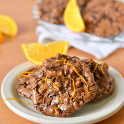 Thumbnail image for Flourless Chocolate Orange Puddle Cookies