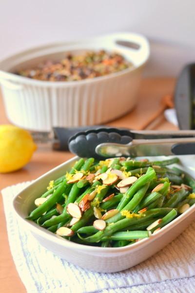 Lemon Butter Green Beans with Almonds