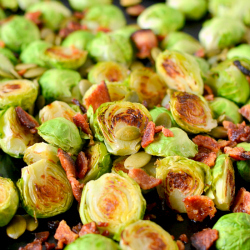 Thumbnail image for Roasted Brussels Sprouts with Bacon and Pepitas